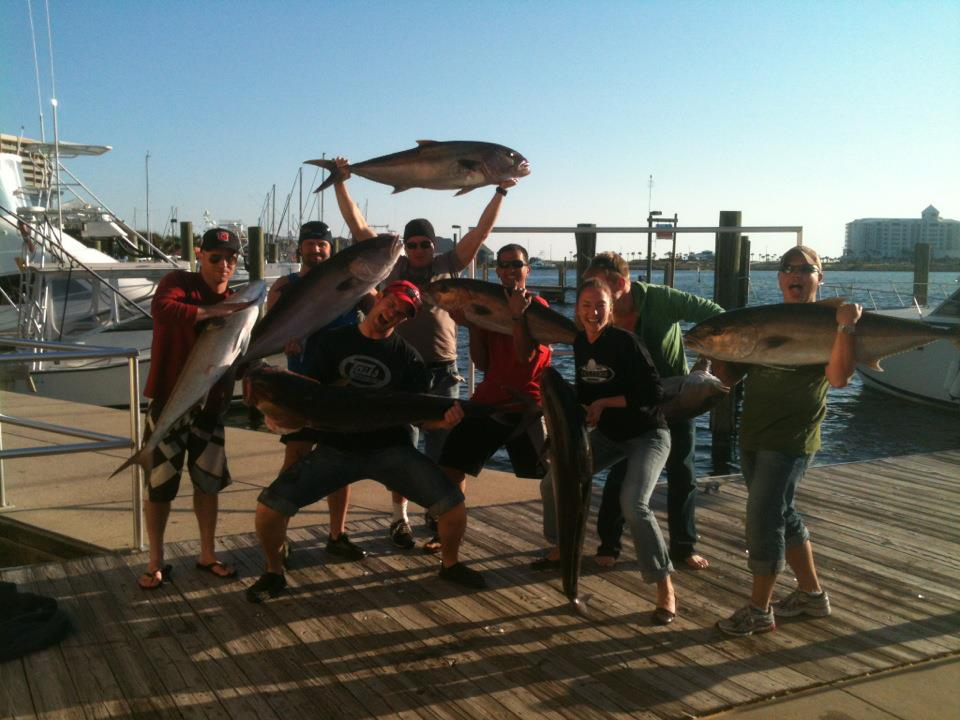Hot Spots Report for Pensacola Fishing Charters August 2013