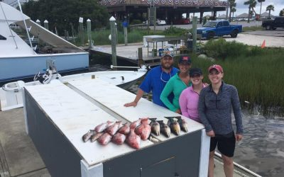 Hot Spots Report for Pensacola Fishing Charters July 2017